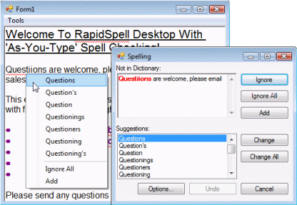RapidSpell Desktop .NET