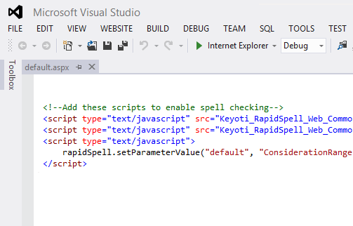 Adding the scripts to enable spell checking
