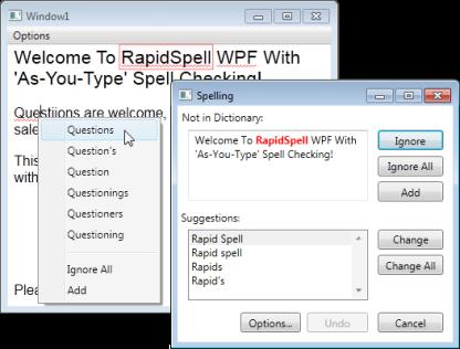 RapidSpell WPF